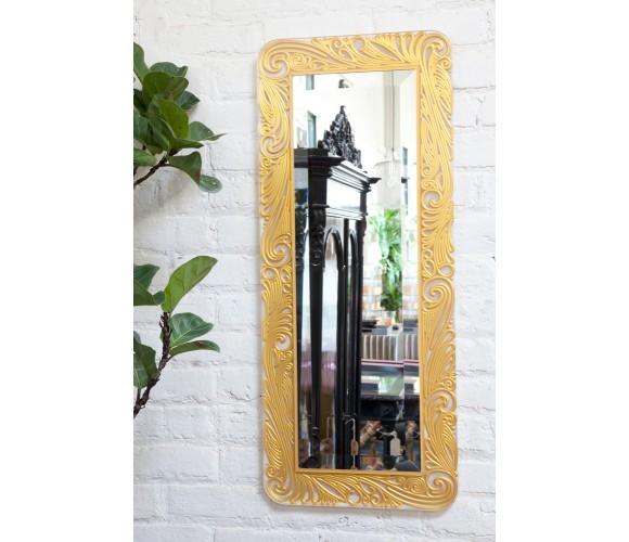 15x36 Gold & Clear Swirl Mirror