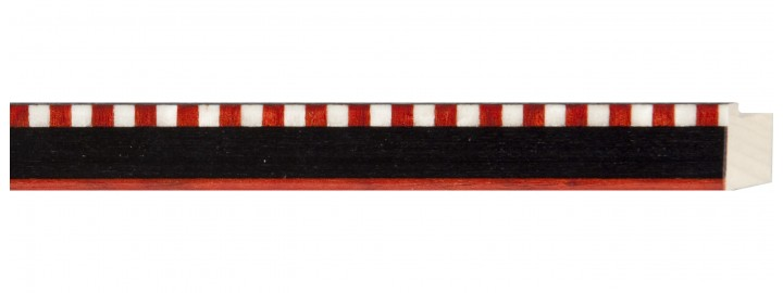 Black Stripe with Red & White Check