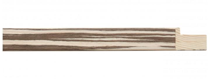 Light Zebrano Stripe Veneer Cap