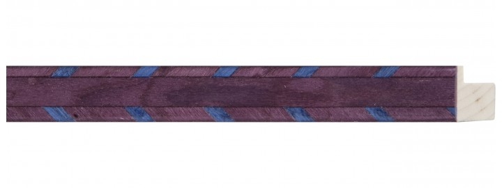 Small Purple w/ Blue Marquetry