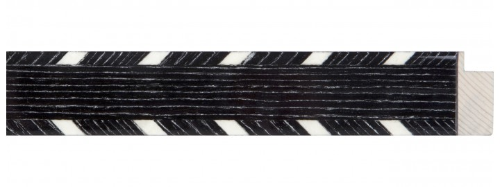 Medium Charcoal & White Marquetry