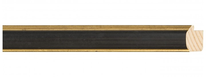 Gold/Black Panel Rounded