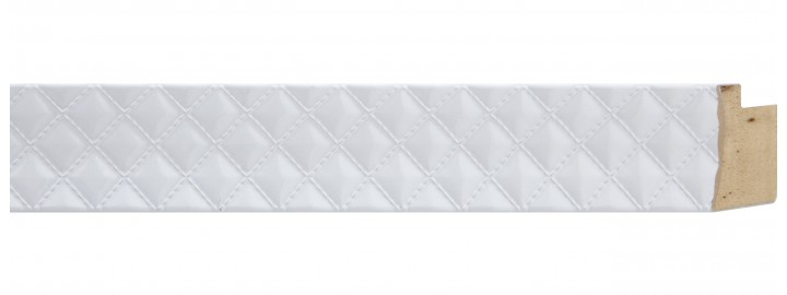White Quilted Patent Leather