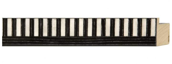 Black & White Piano Keys Marquetry