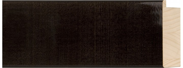 "3"" Black Licorice Flat Lollypop"