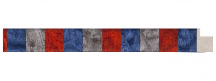 Blue, Red, Gray Squares