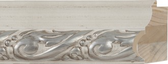"3 1/2"" Sculpted Marble Carved Leaf"