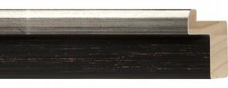 """2"""" Black Flat w/ Tall Silver Step"""