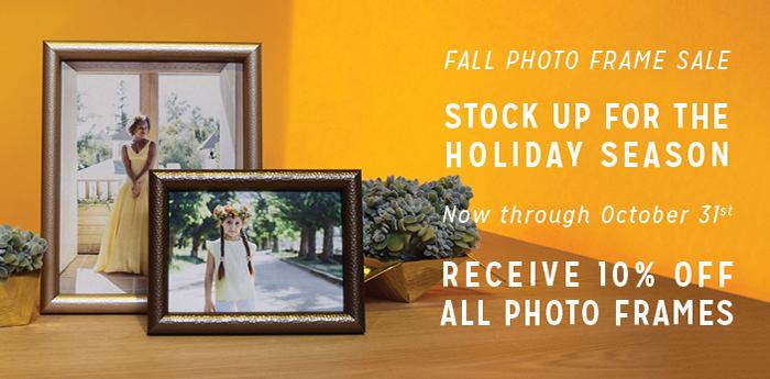 Fall 2016 Photo Frame Sale